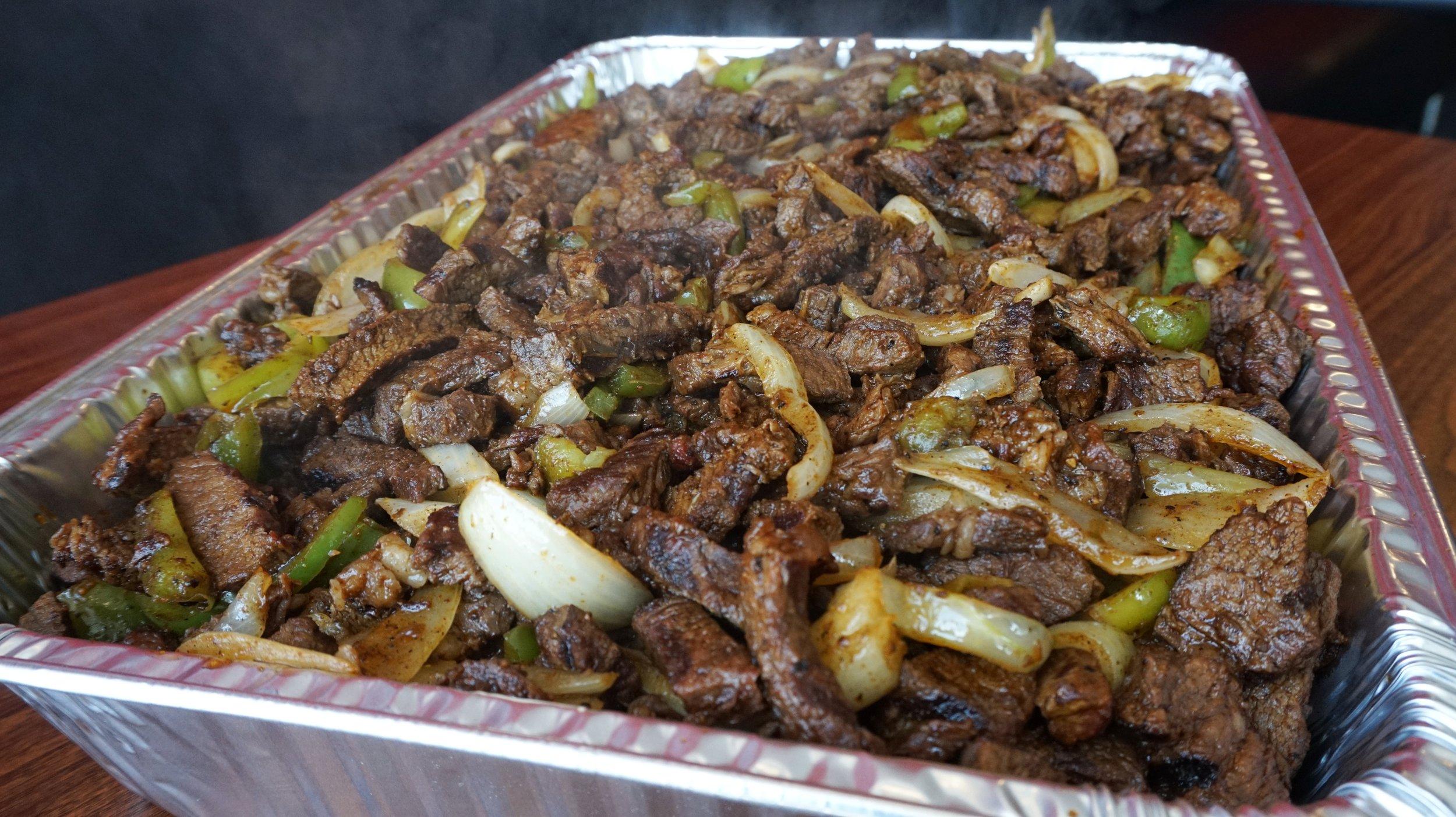 Large Tray of Steak Fajitas