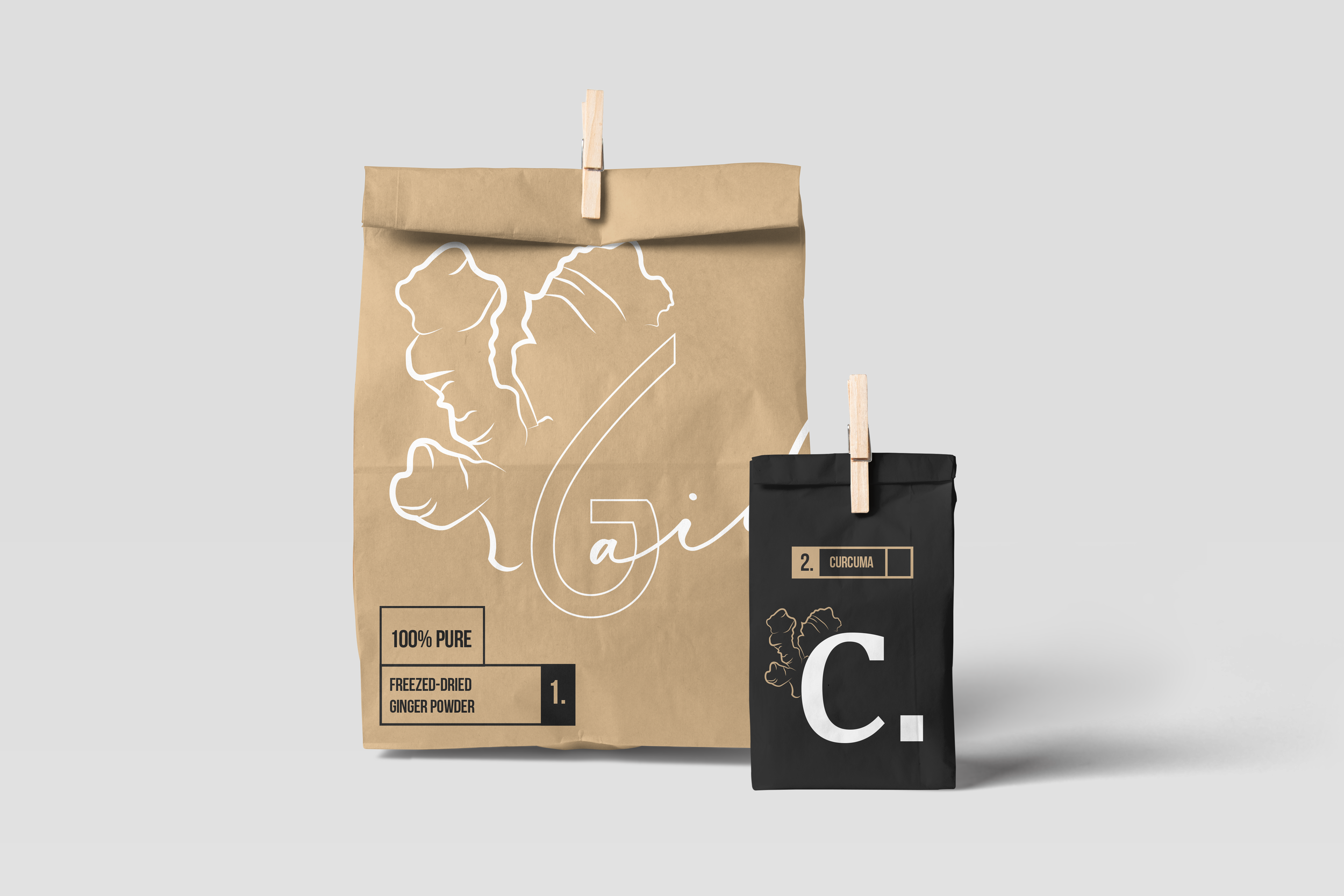 Ginger Aid Packaging for self-service
