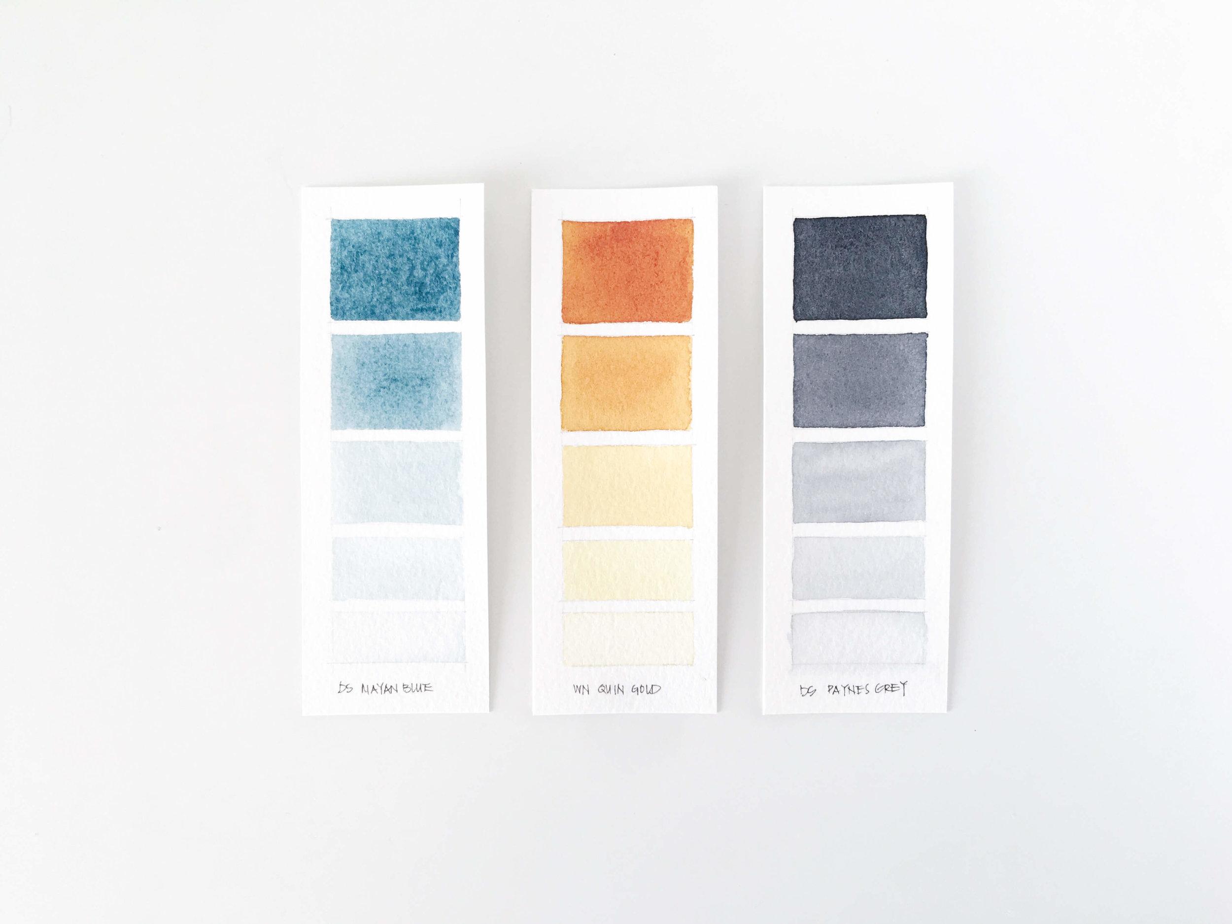Watercolor Value Scales