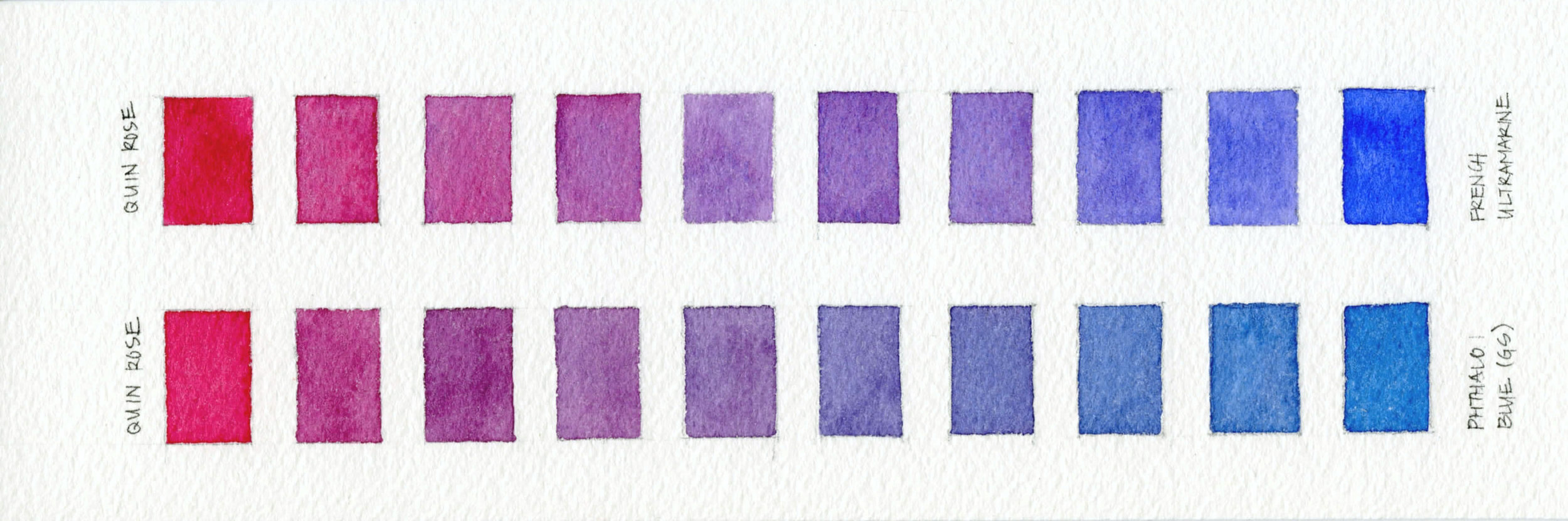 Watercolor Two Color Mix