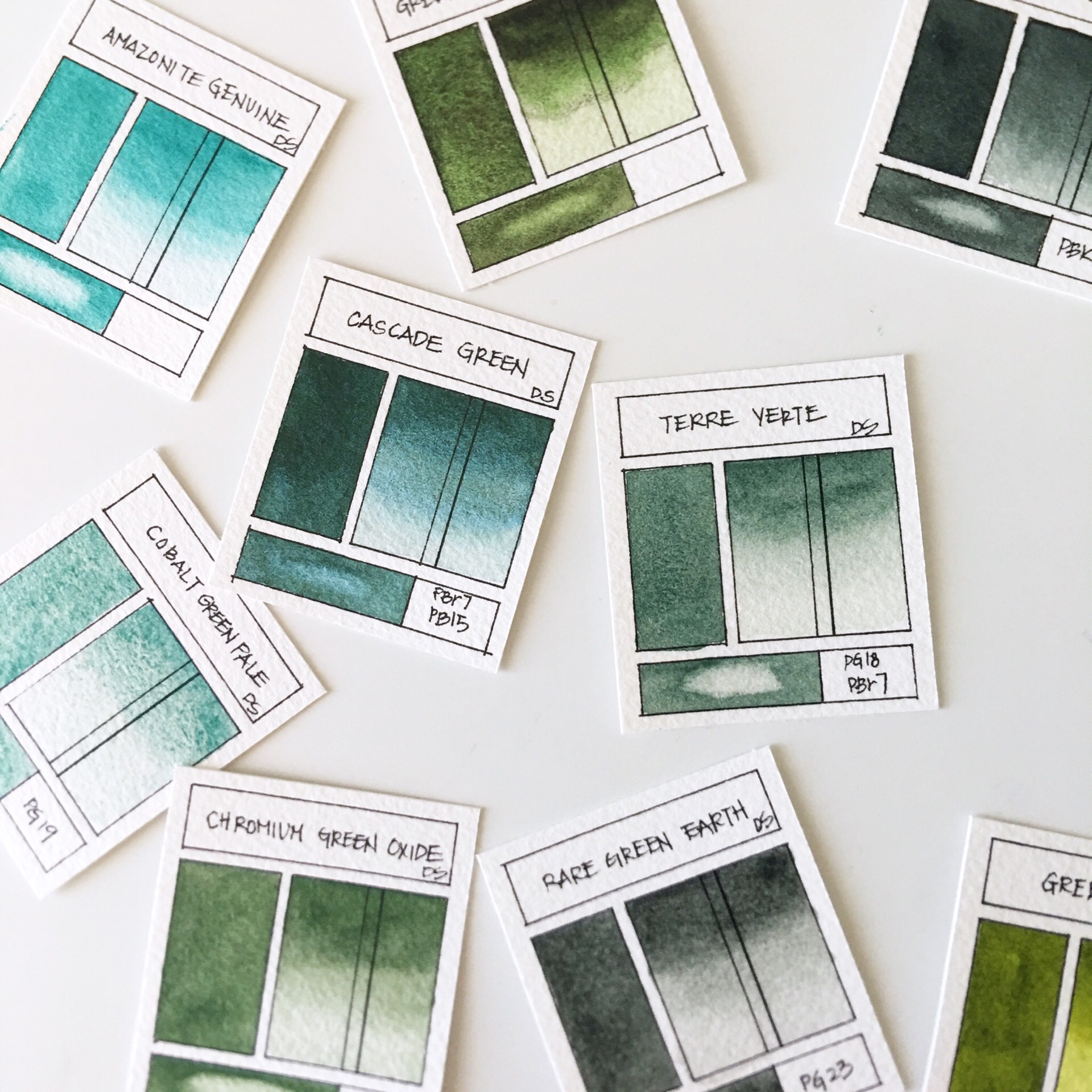 Watercolor Swatch Cards