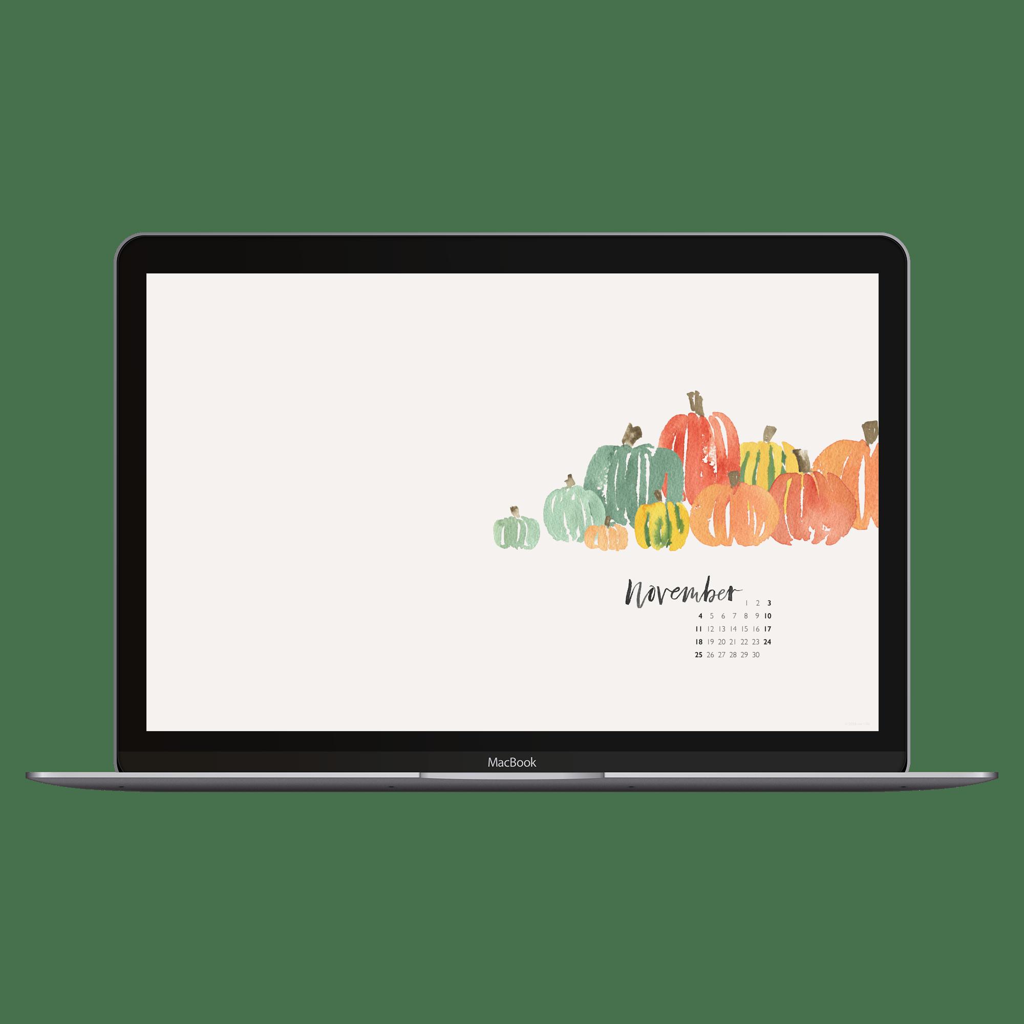 watercolor desktop calendar wallpaper