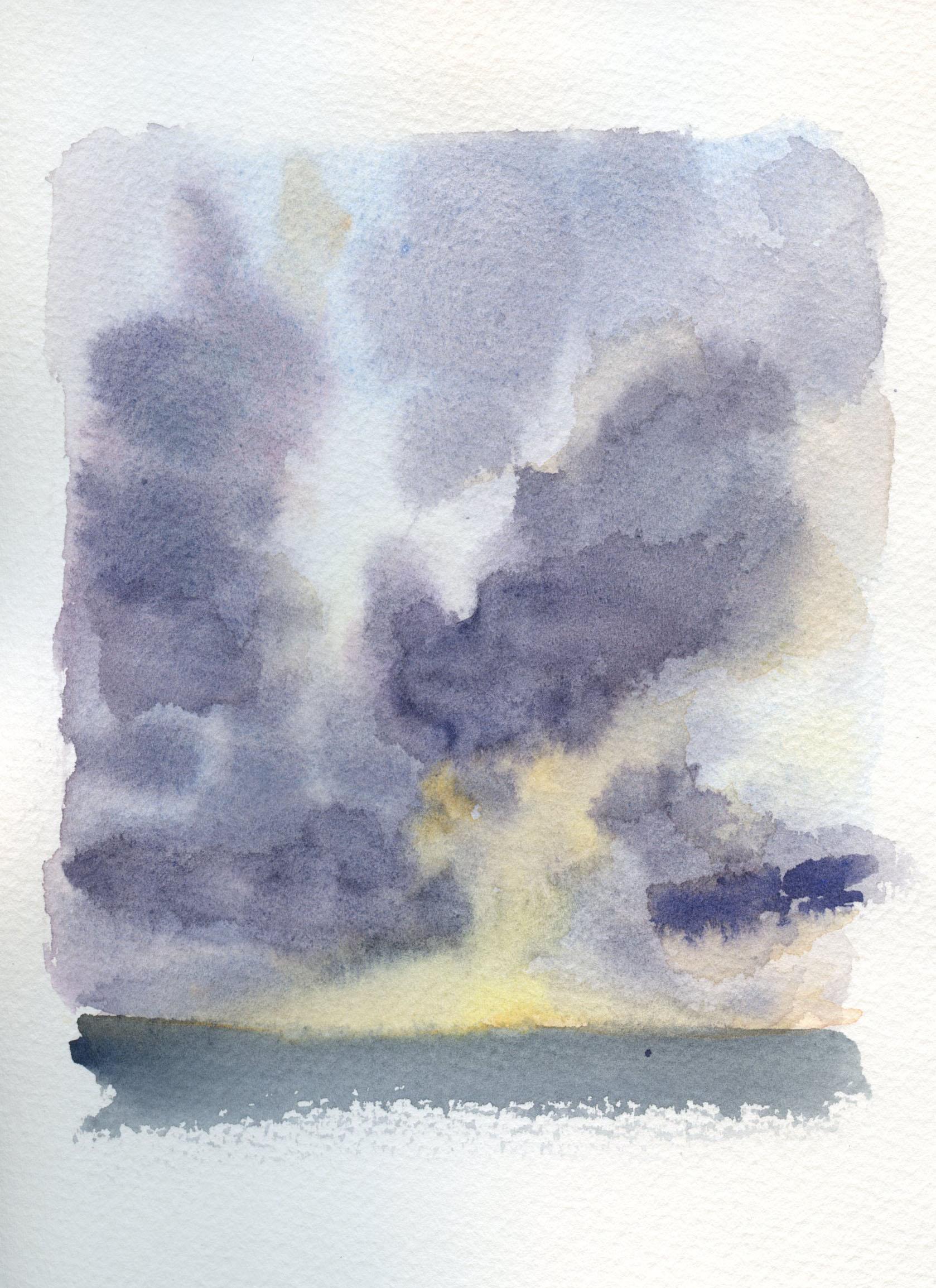 Purple Watercolor Sky Practice