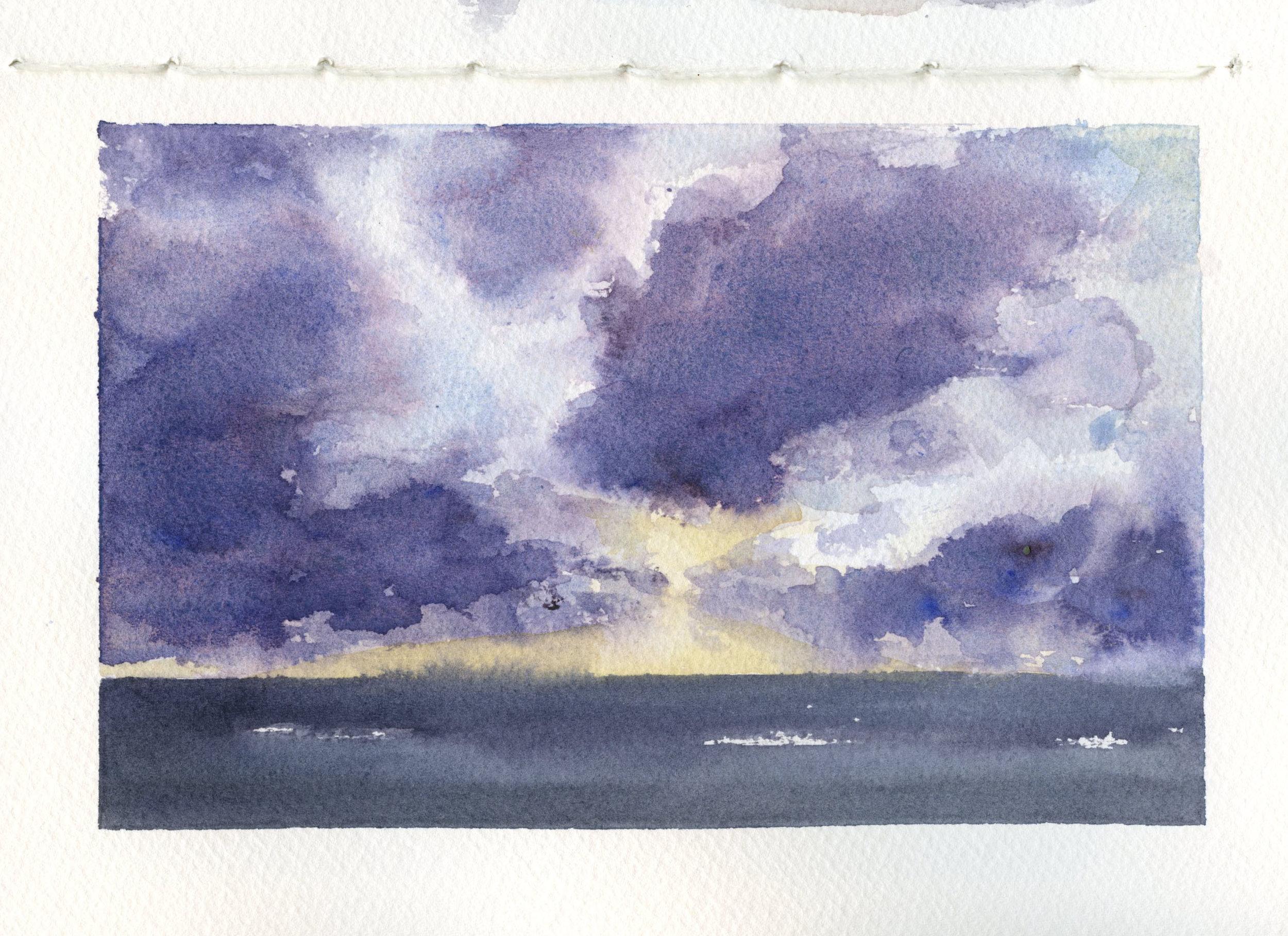 Purple Watercolor Skies