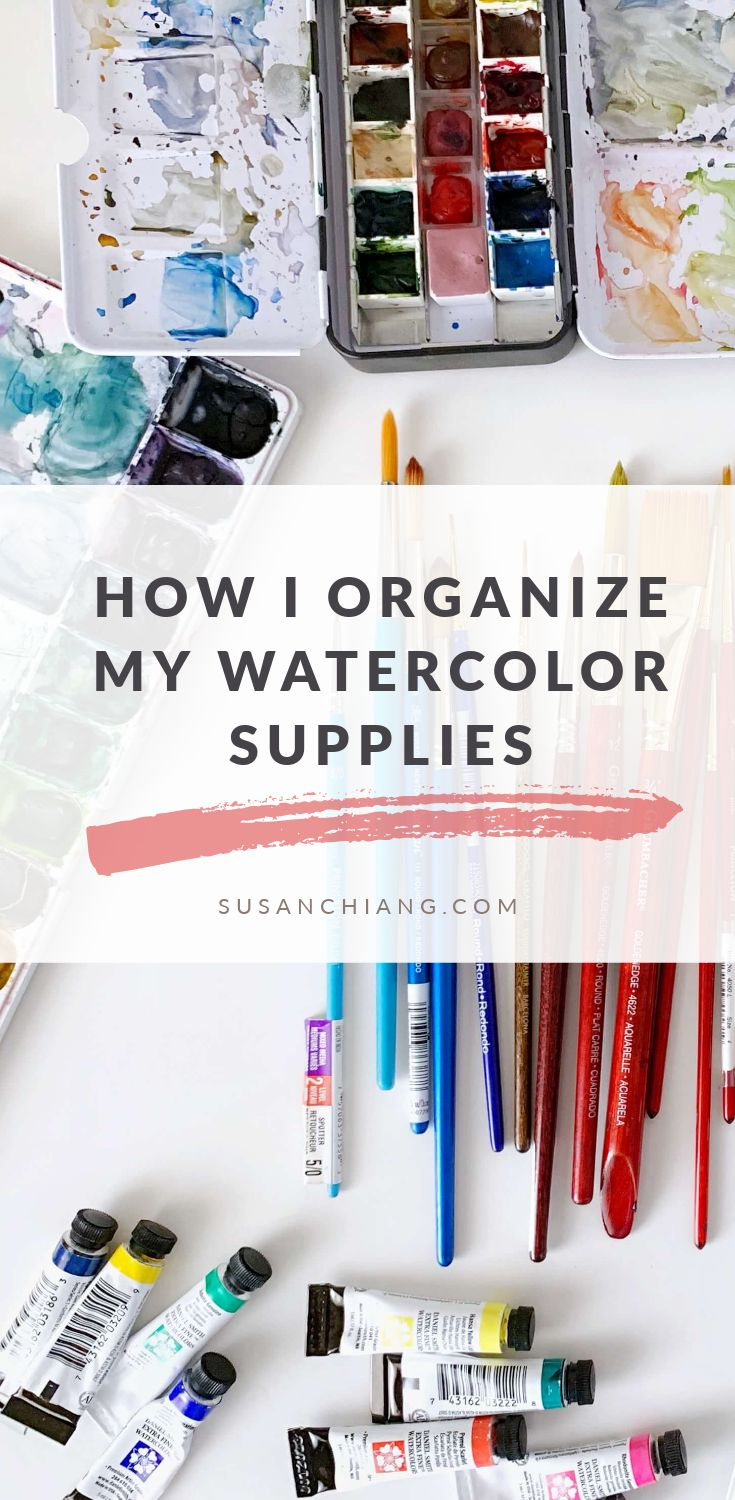 Pinterest How I Organize My Watercolor Supplies