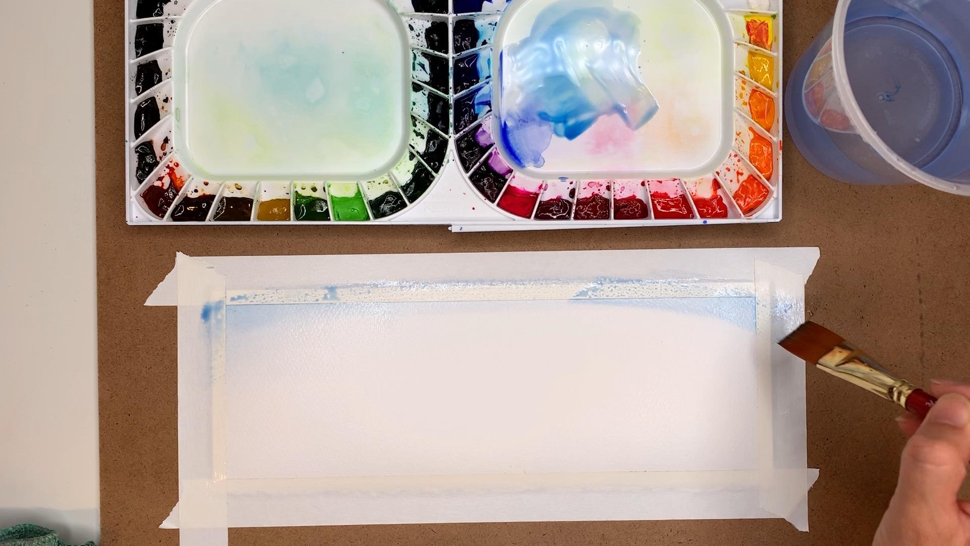 Watercolor Gradient Sky