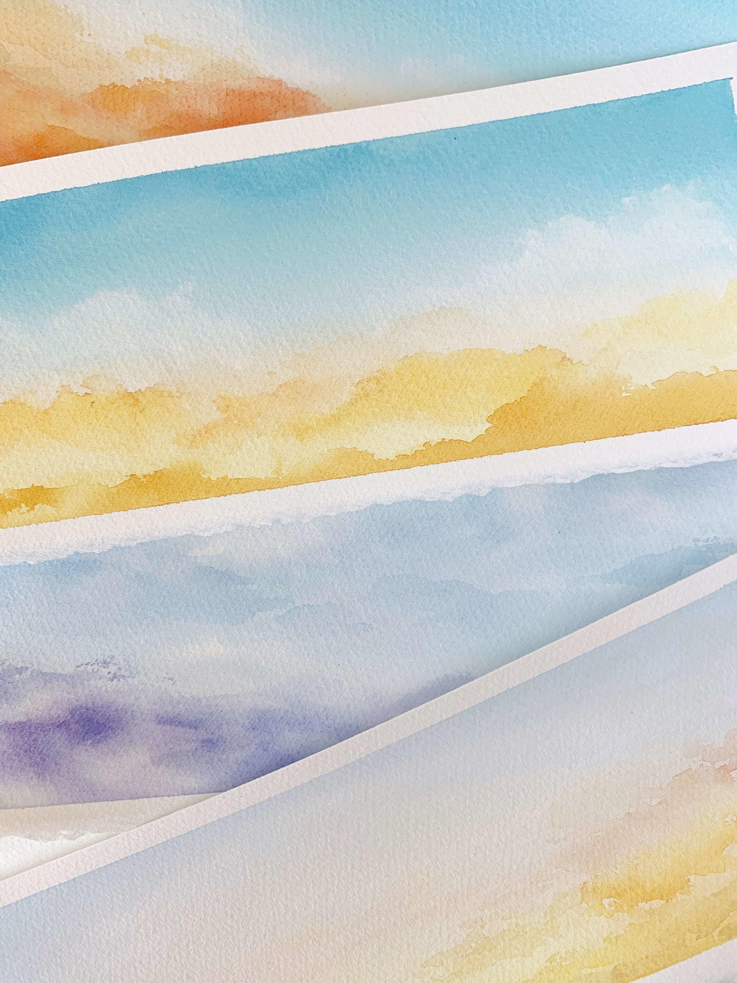 Watercolor Gradient Skies
