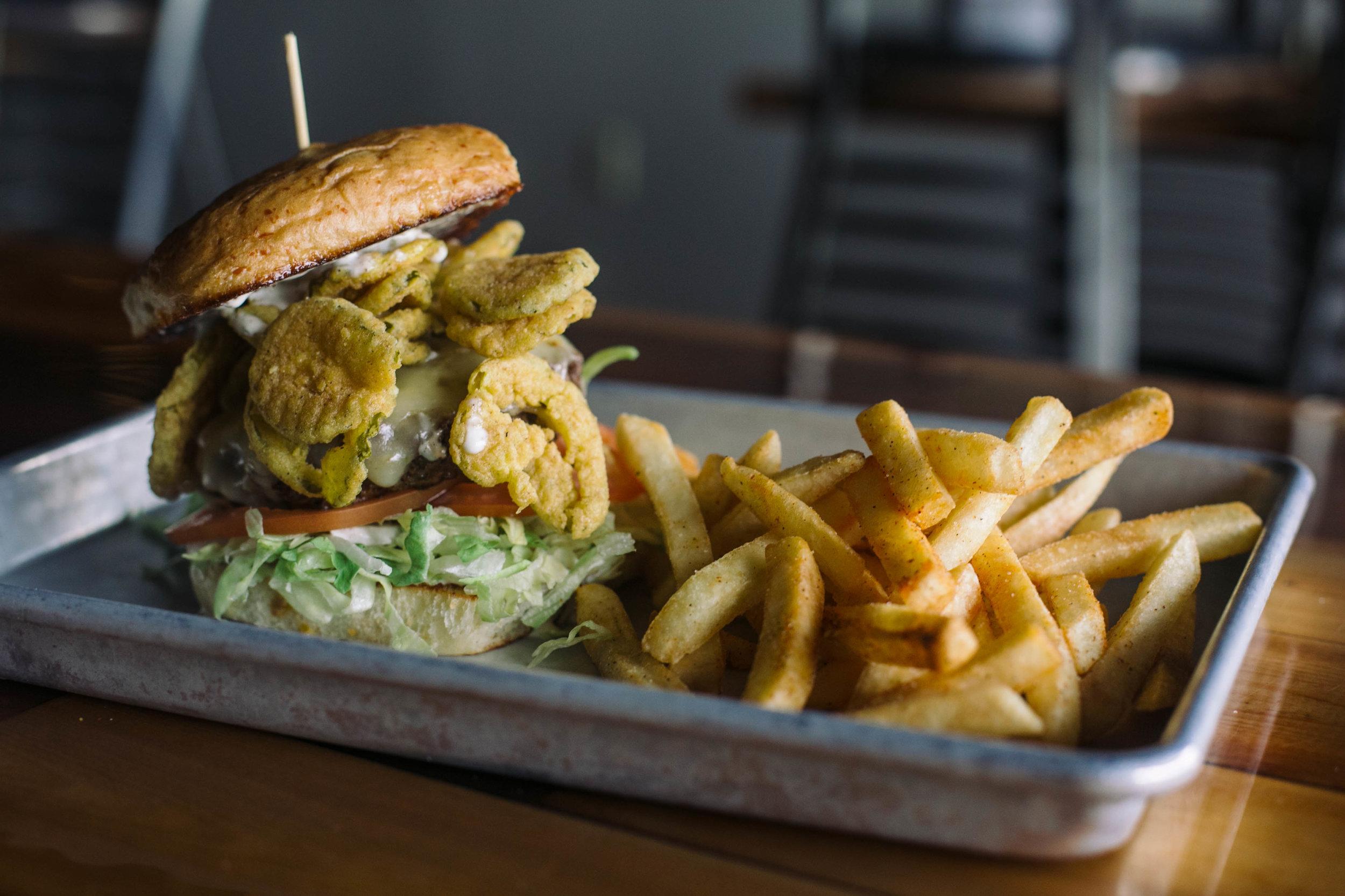 Fried Pickle Burger