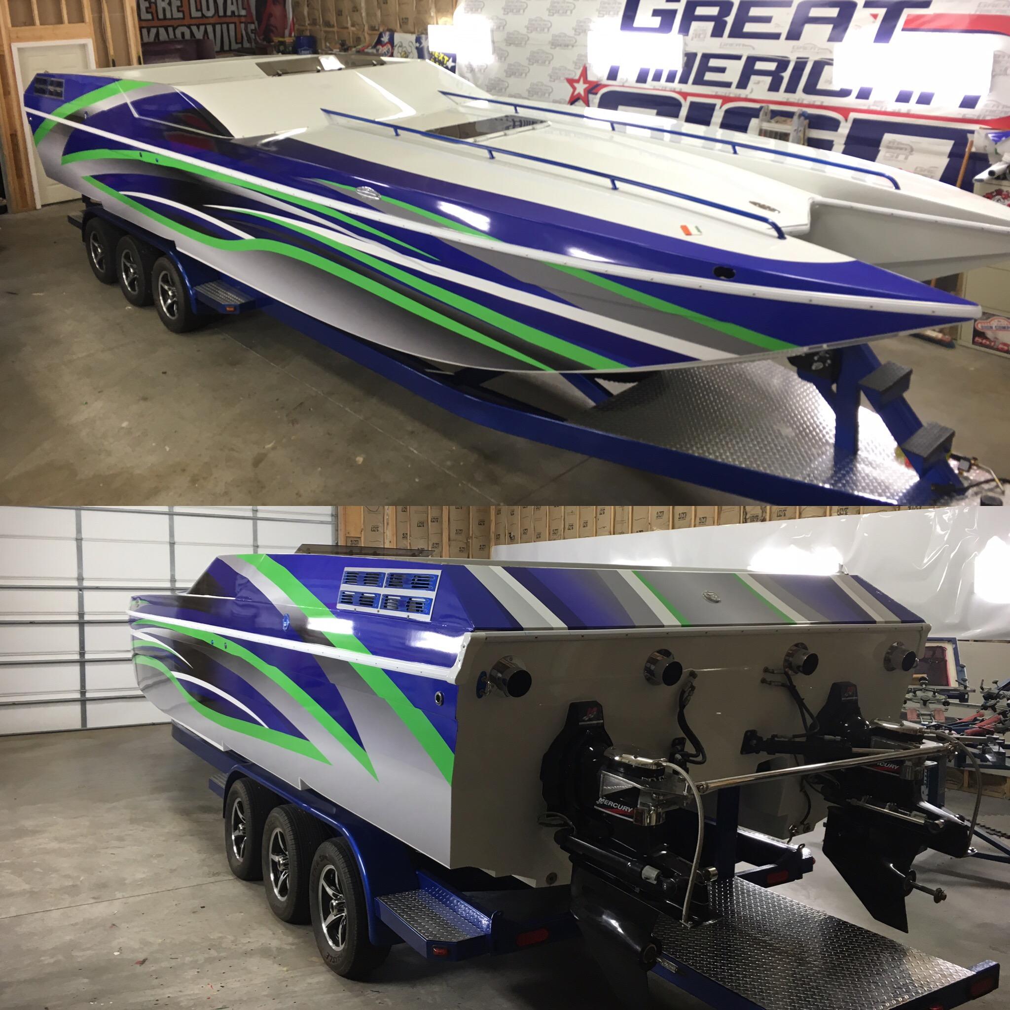 Stripe Pattern Boat Wrap