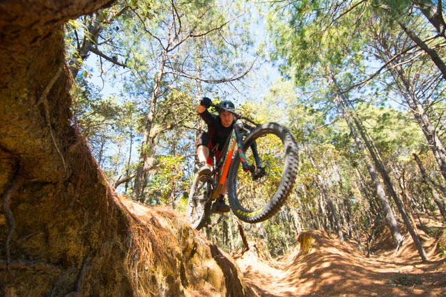 Mark mountain biking Oaxaca, Mexico on his Santa Cruz Hightower