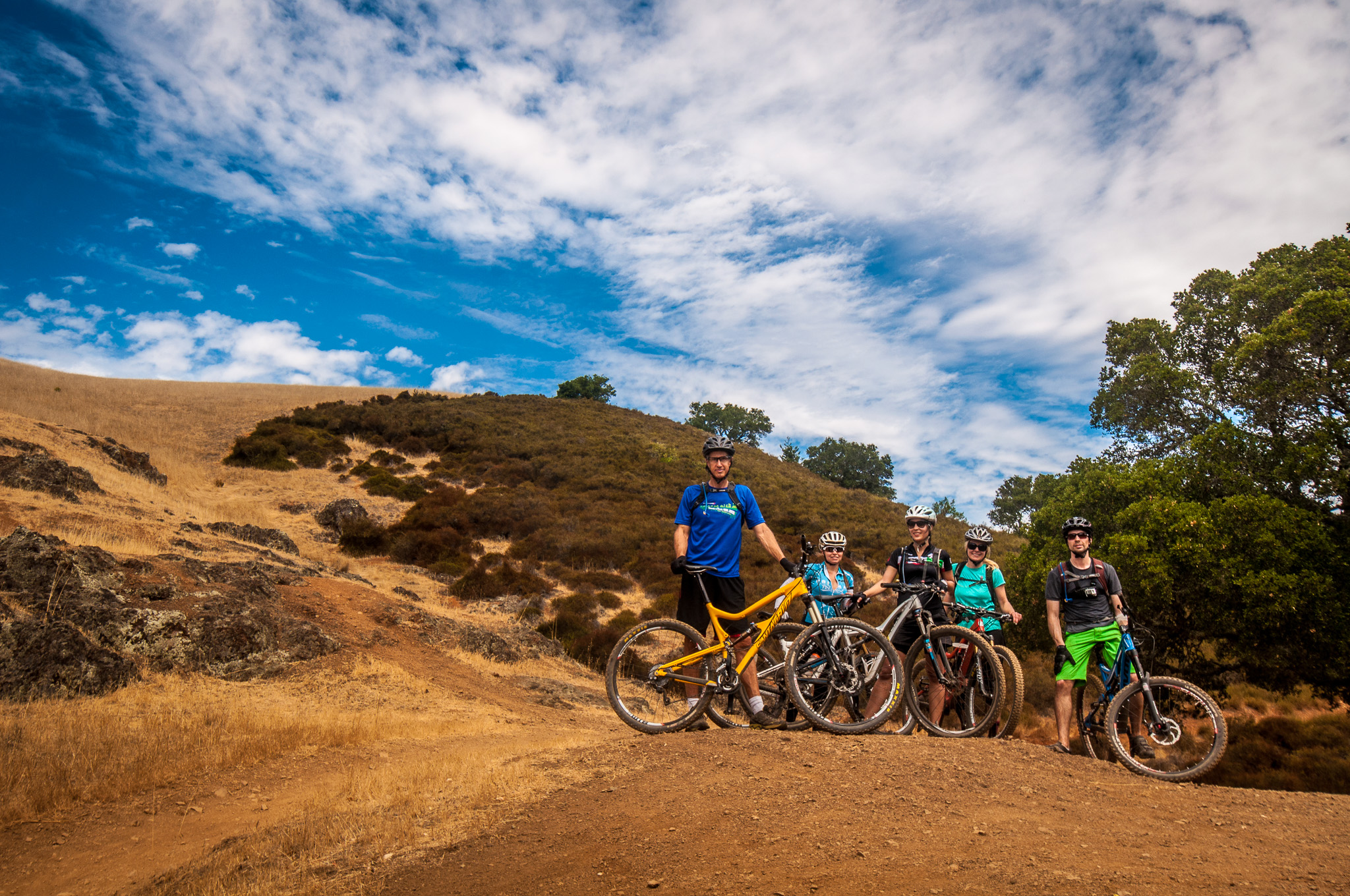 Hero Dirt Riders mountain biking at Tamarancho in Marin County