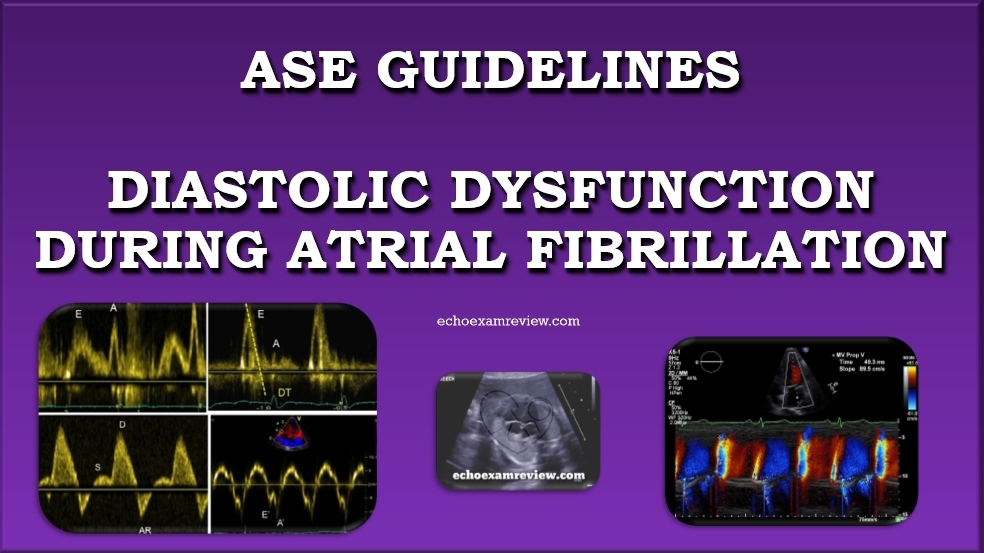 ASE Guidelines for assessing Diastolic Function during Atrial Fibrillation