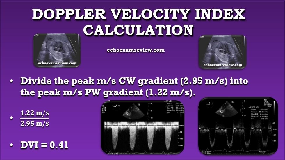 Doppler Velocity Index Equation