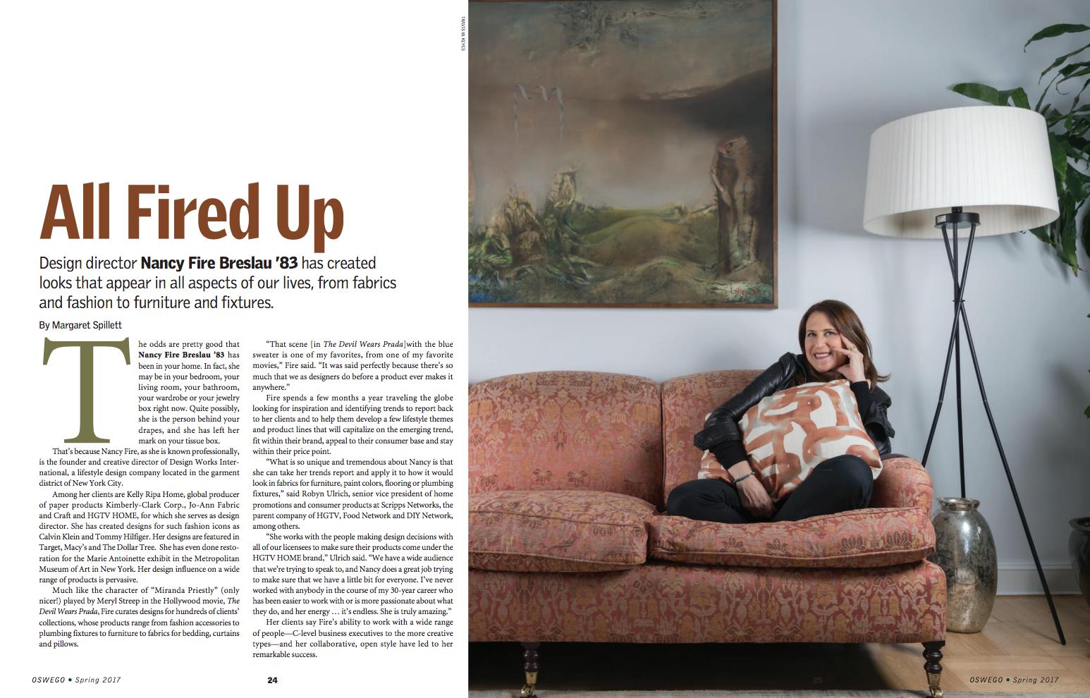Riverbed in Quartz, as seen in  Oswego Magazine