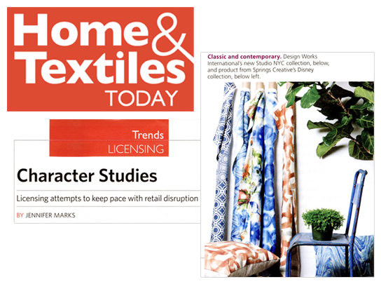 Studio NYC Design as seen in  Home & Textiles Today
