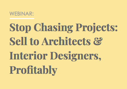 Sell to Architects and Designers Webinar Thumbnail