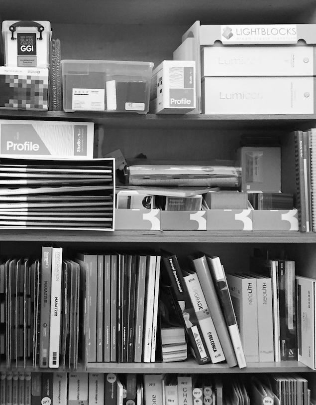 materials sample library