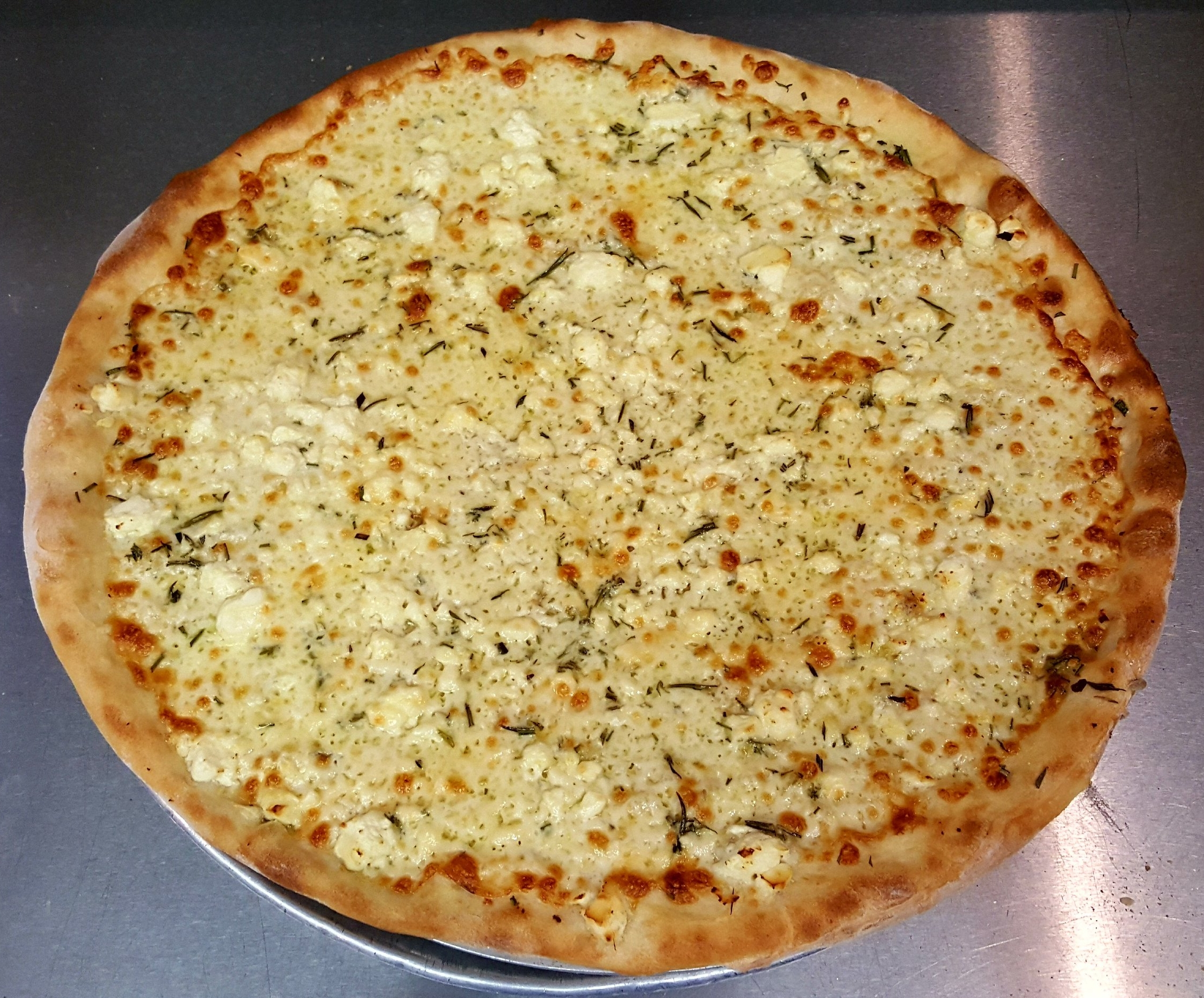 WHITE PIZZA -  ROSEMARY + FETA