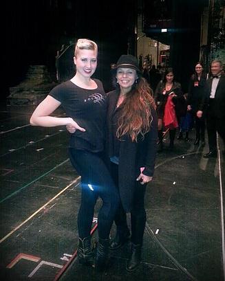 Elizabeth Bork & The Rockettes - Natalie with client and Rockette, Elizabeth Bork at Radio City Music Hall