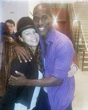 Lloyd Knight - Natalie with client Lloyd Knight, Principal Dancer for the Martha Graham Dance Company.