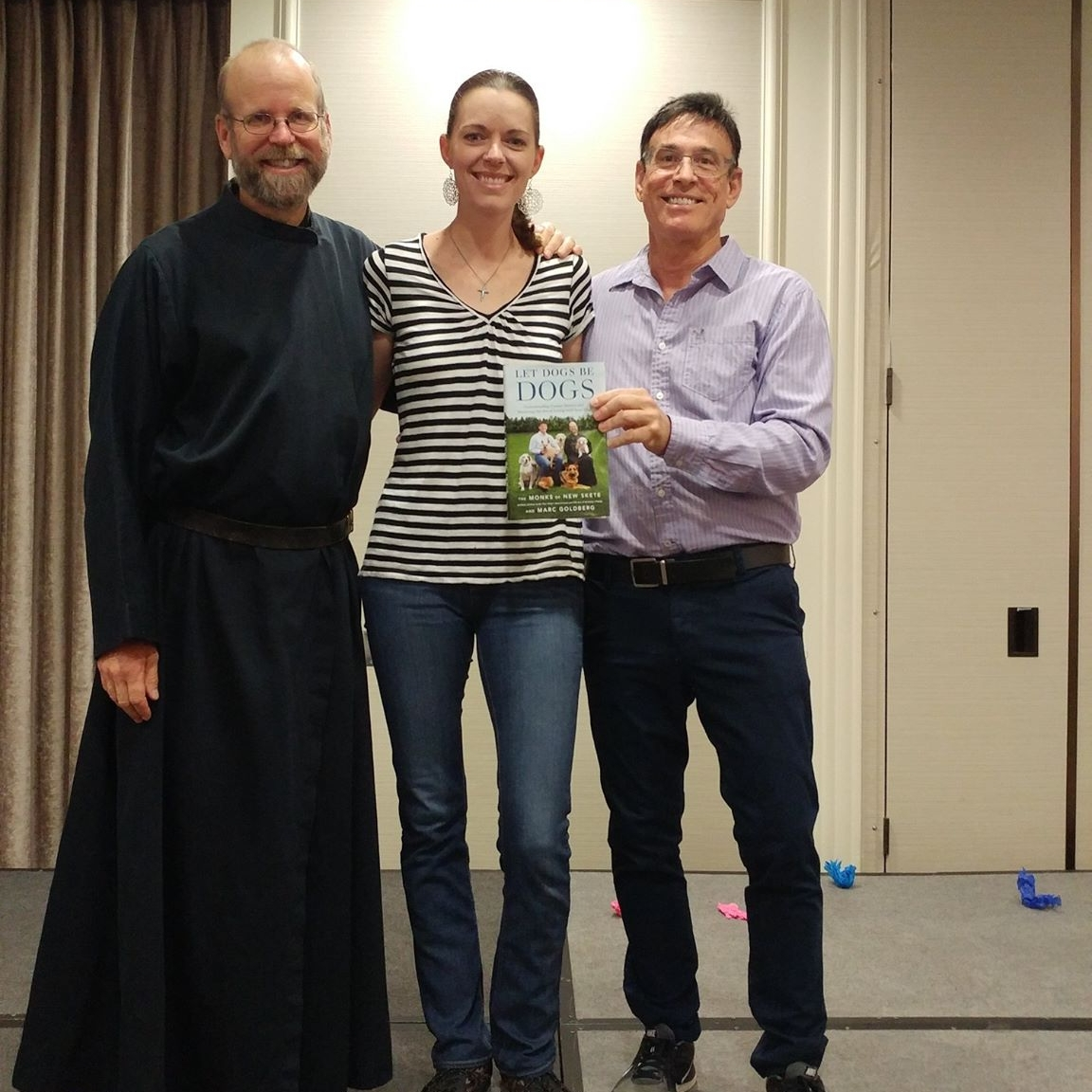 Crystal Blaker from Ruff House Dog Training & Behavior Modification meeting the Monks of New Skete at the 2017 IACP Conference in St. Louis.