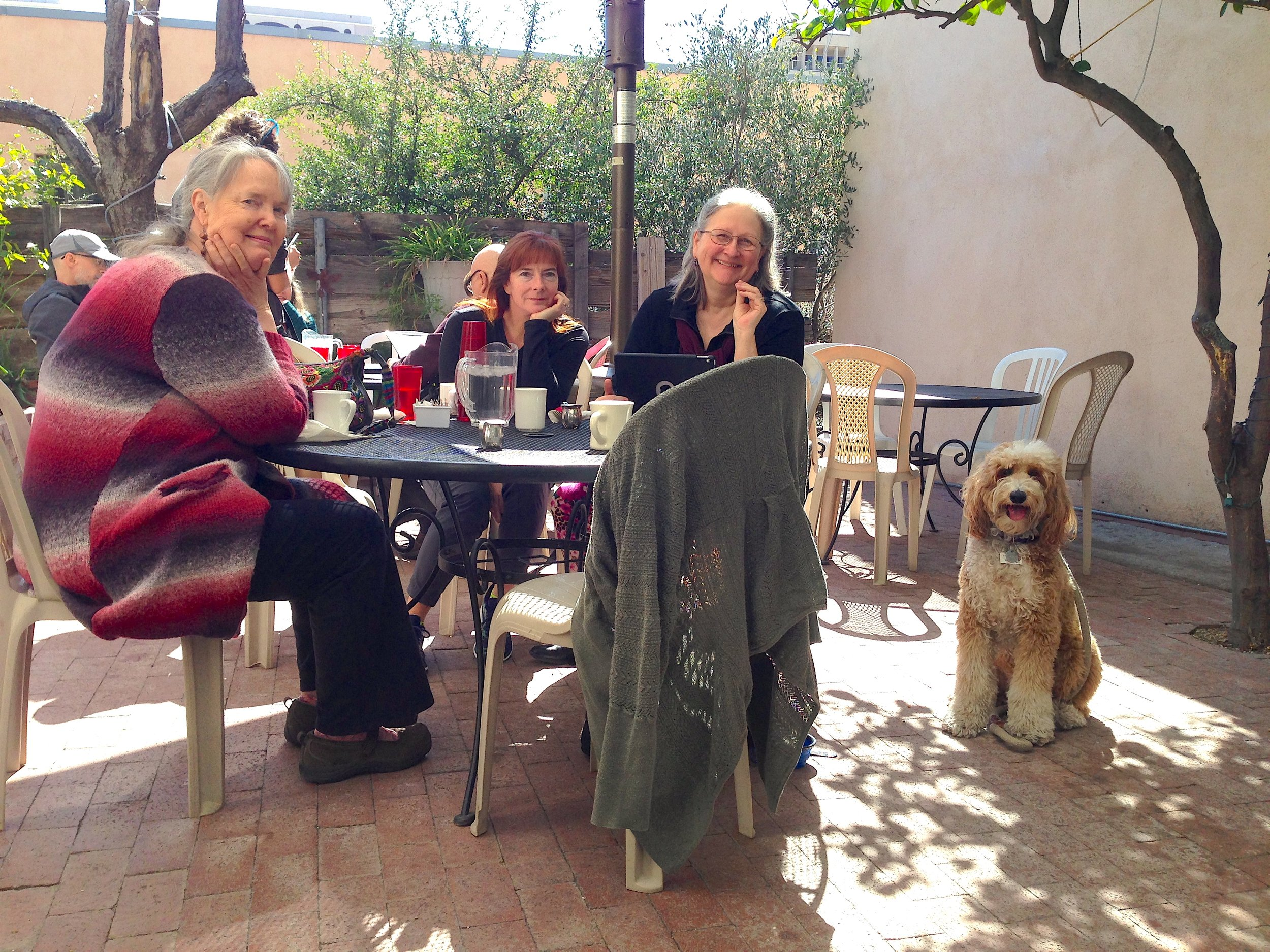 Bernie McSquare meets the women of Tucson Women Bloggers during our monthly social gathering in downtown Tucson.
