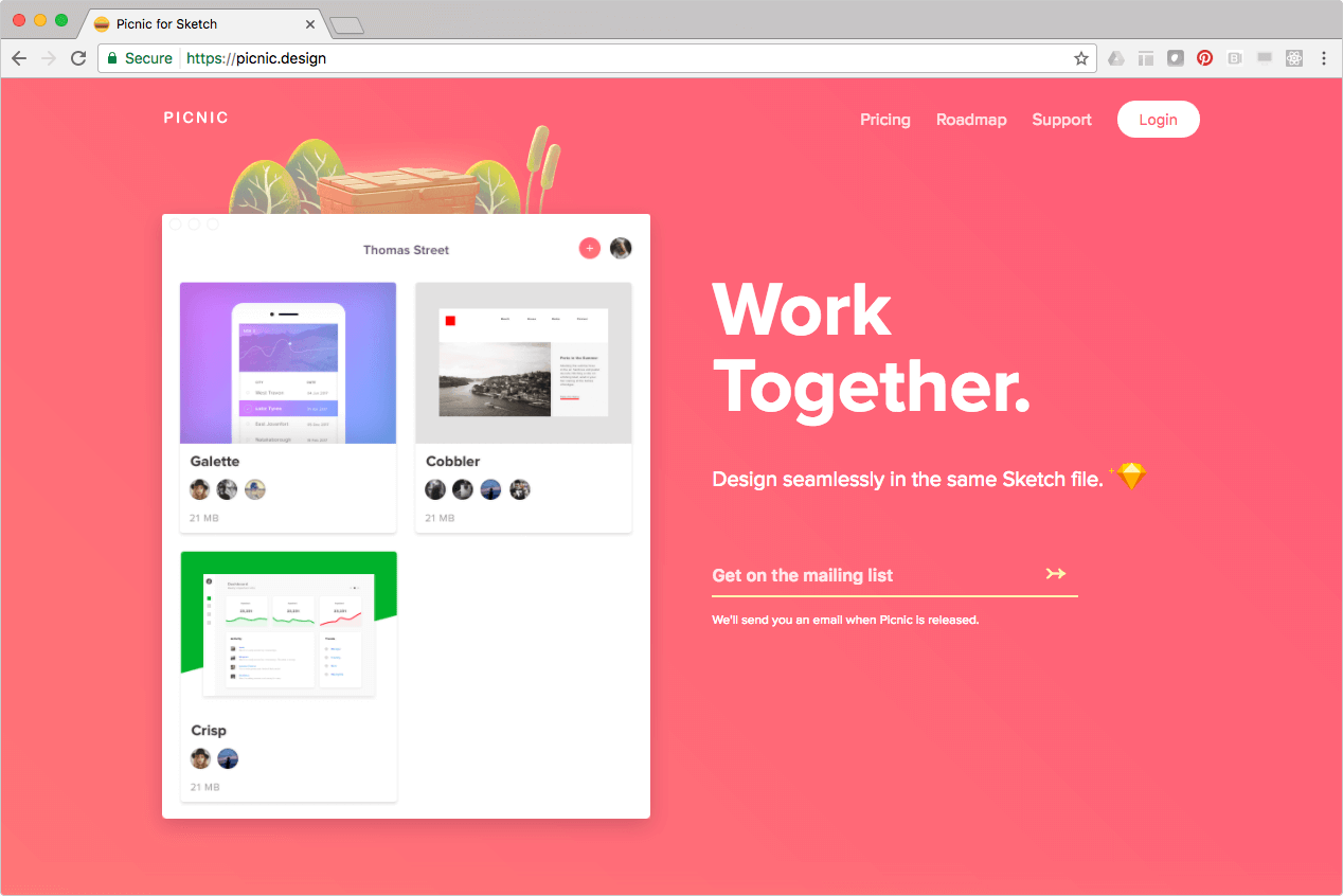 Picnic: Designing a Tool for Collaboration — Thomas Street
