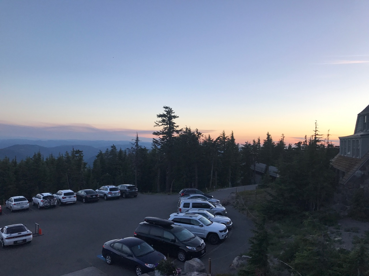 View from room at Timberline Lodge
