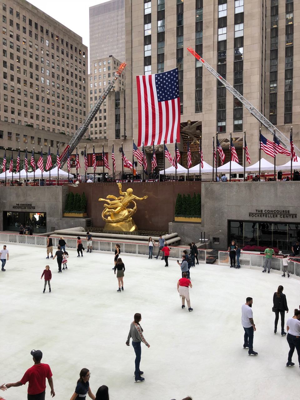 Rockefeller Center, NYC (the first day the ice rink was open for the season.)