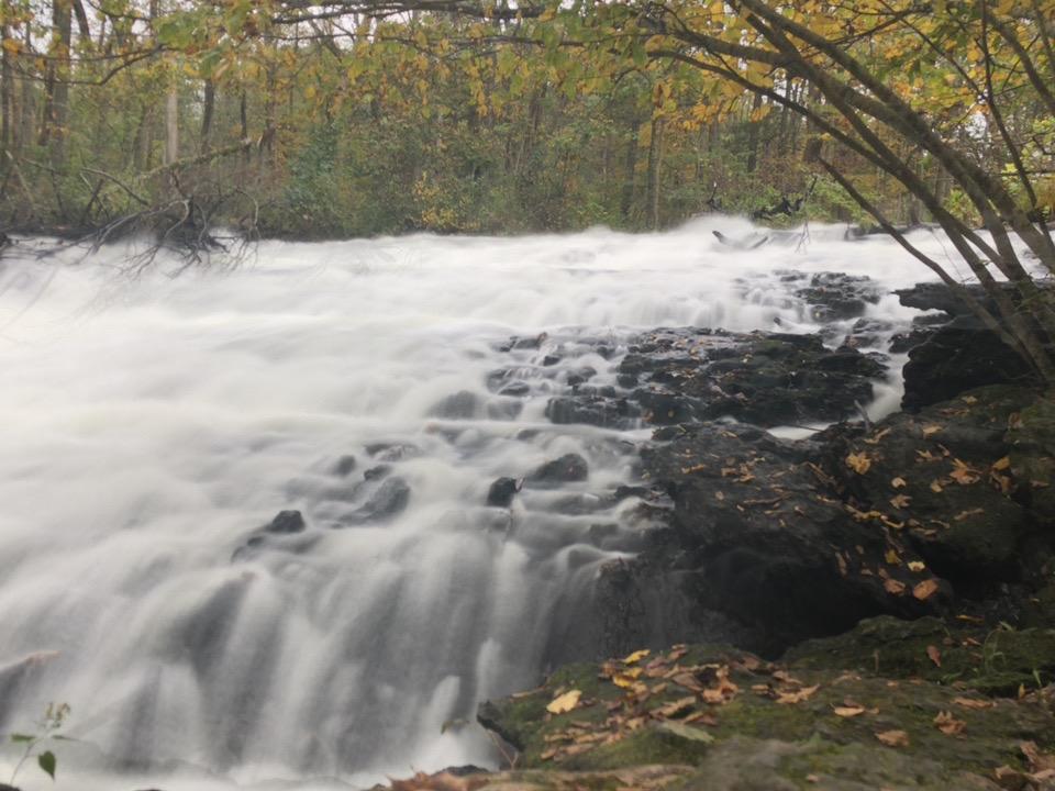 Waterfalls near the resort.