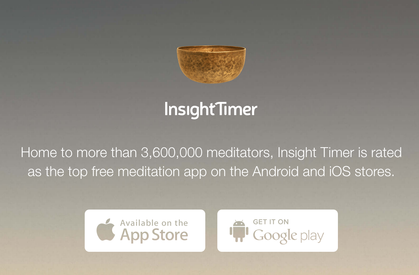 Insight timer app - This is the app we use most of the time when we meditate and we recommend it to those who are just started out or have taken the Primordial Sound Meditation course. Time your meditations, meditate with community, and listen to exceptional guided meditations and music. It's free!