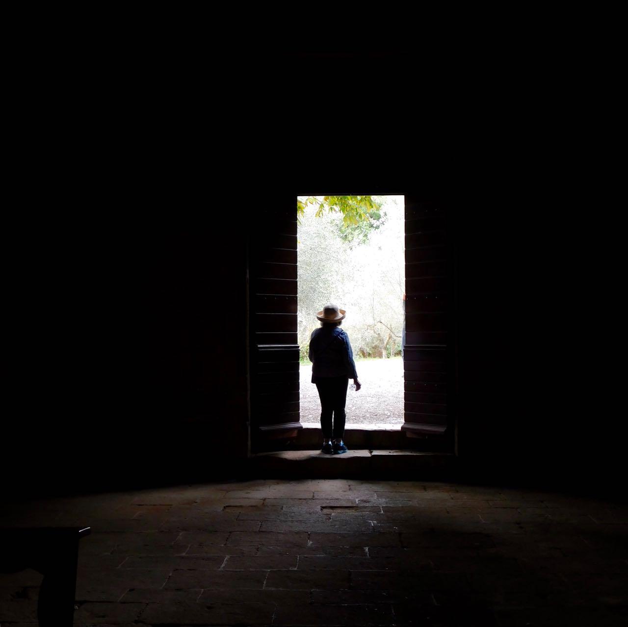 My Mom in a Church Doorway