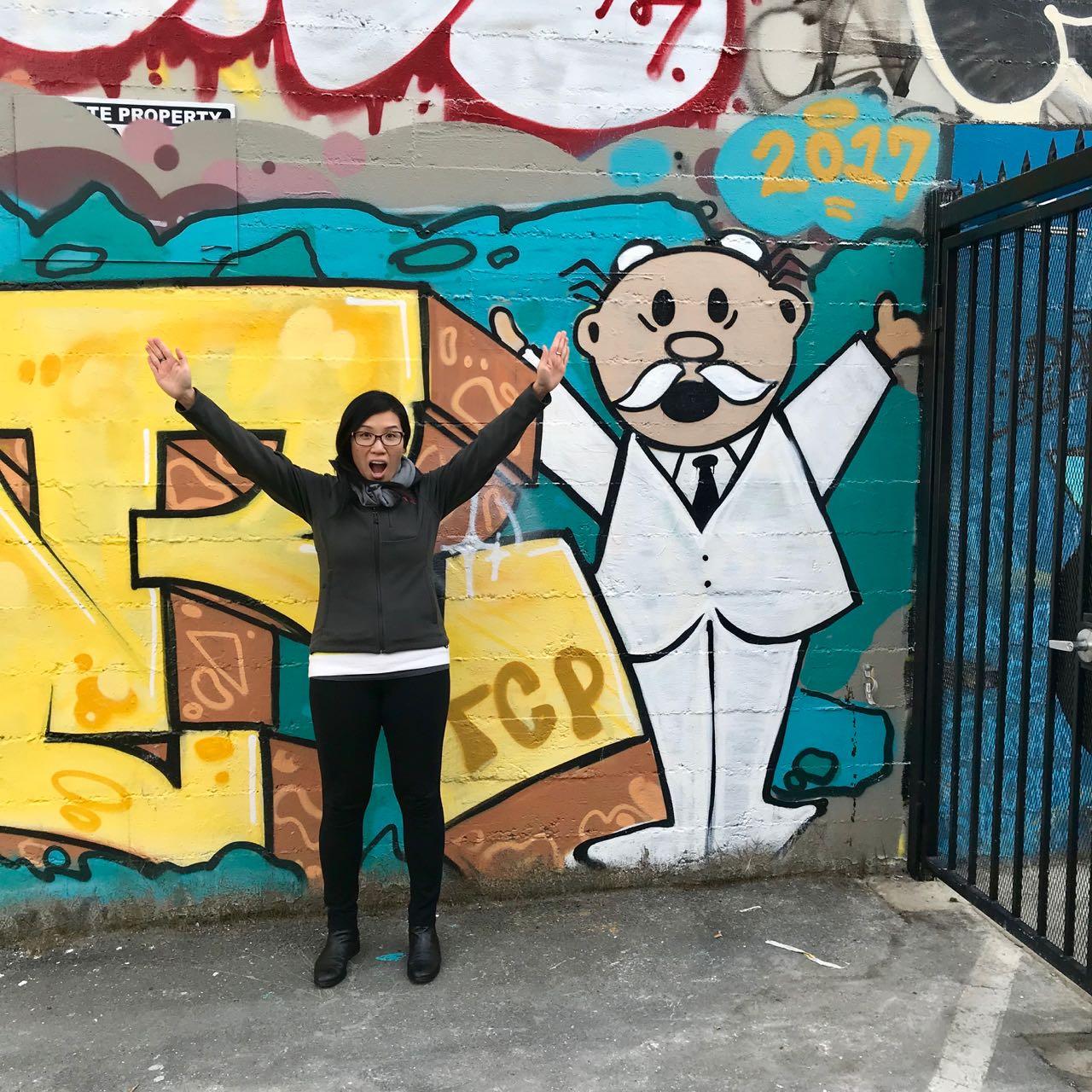 Christine and her Street Art Twin
