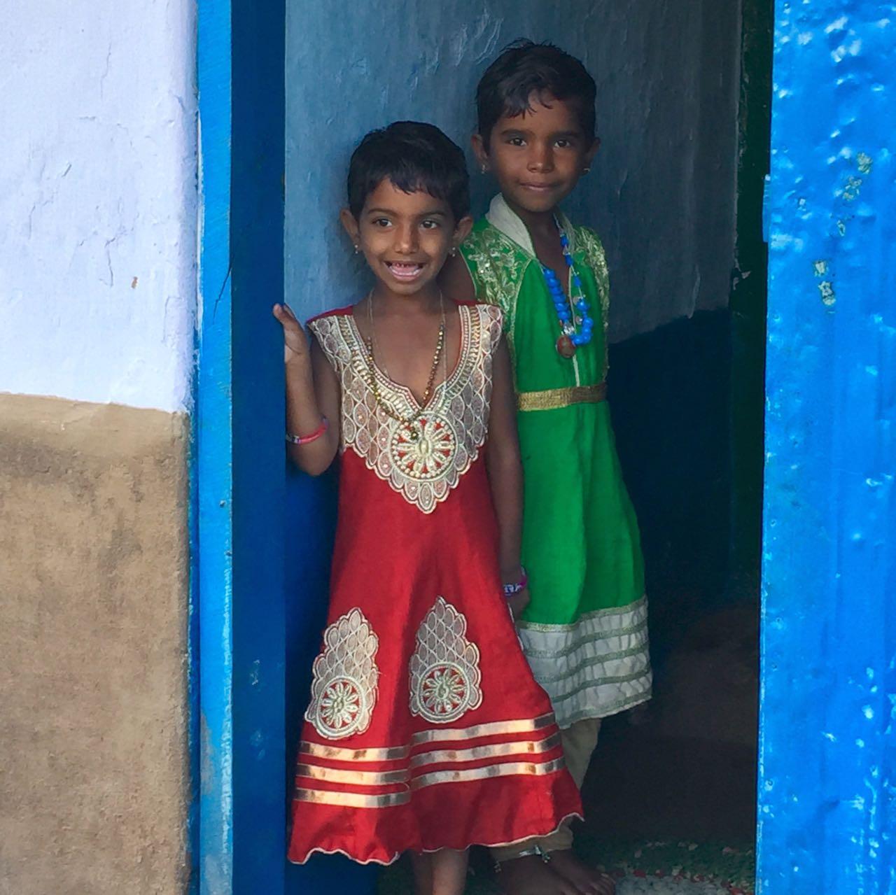 Two girls in the Doorway