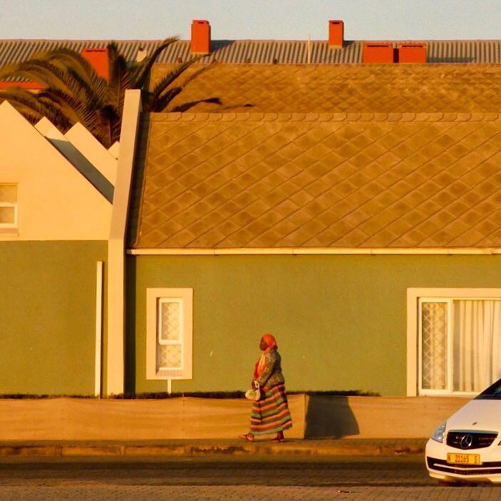 Woman Walking in Golden Light