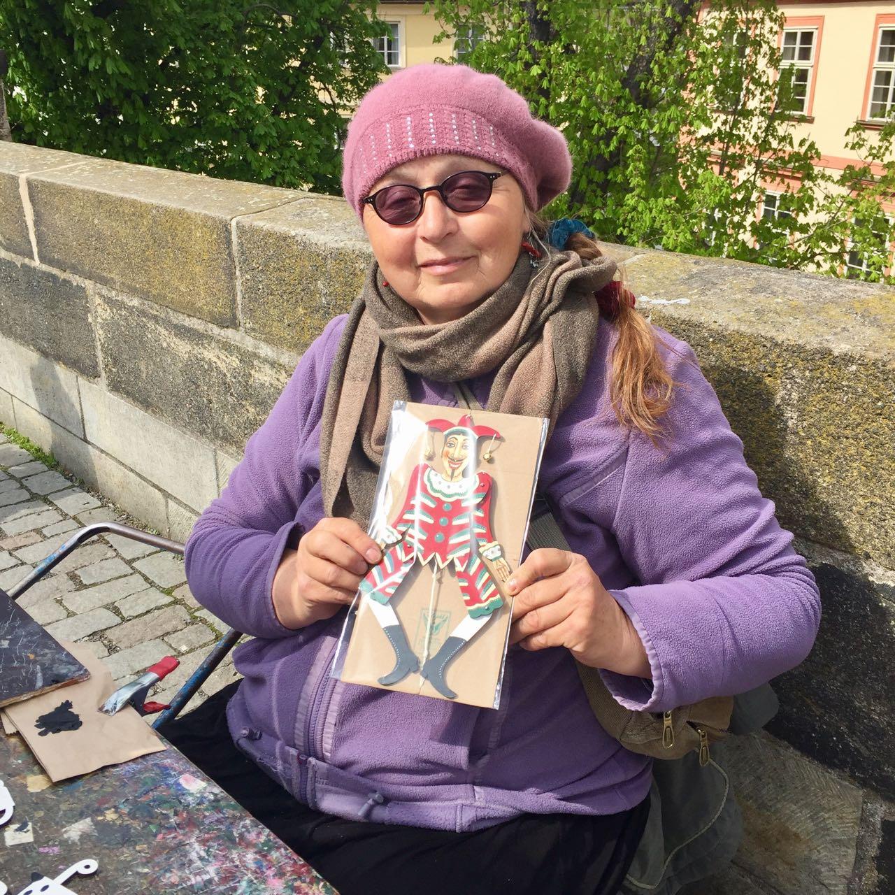 Artist on the Charles Bridge