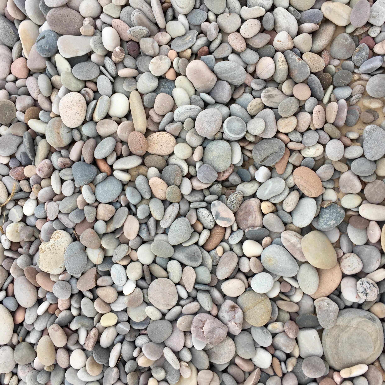 The beautiful rocks on Findhorn Beach, Scotland