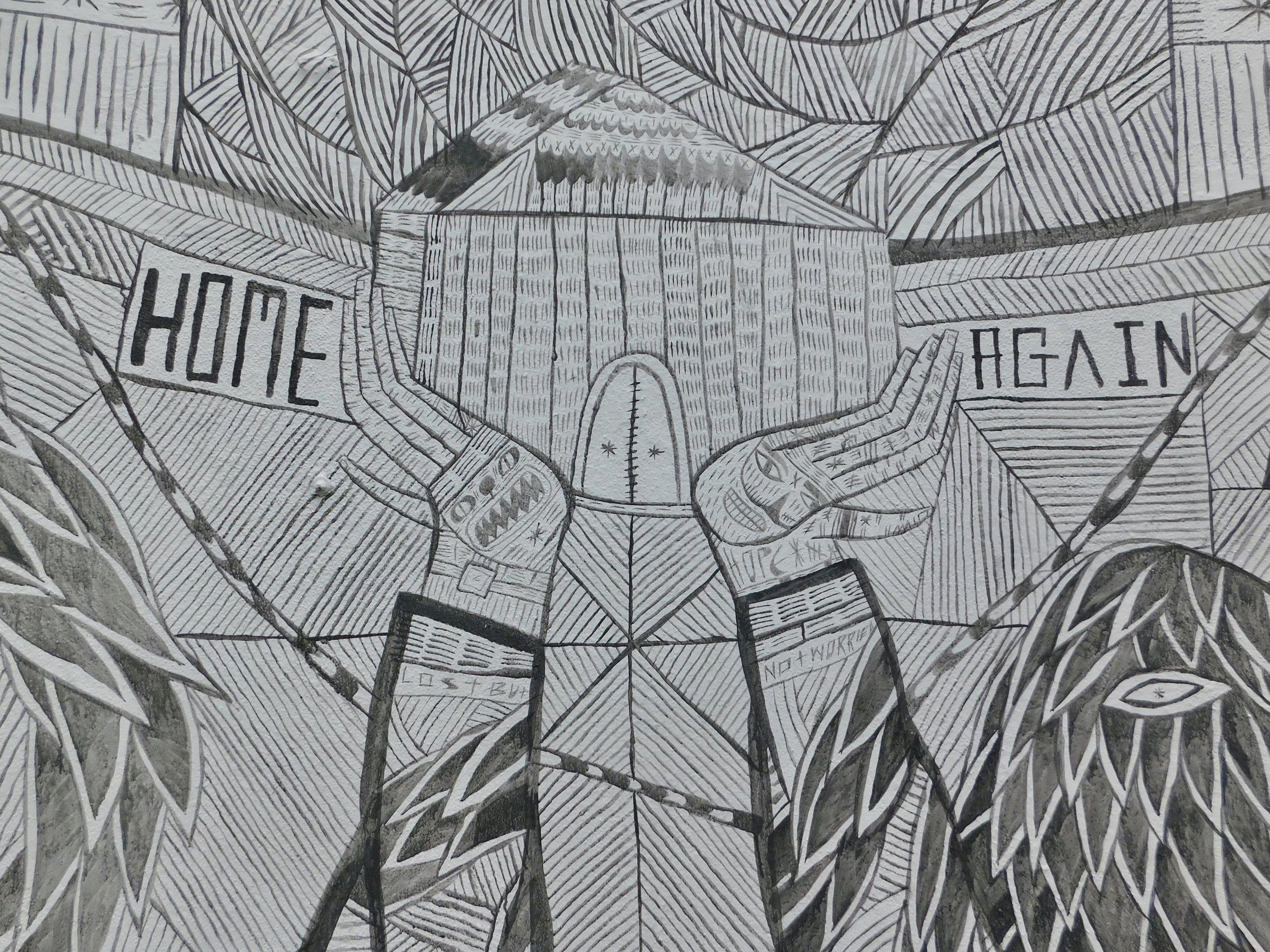 Detail of Street Art, Bushwick Collective, Brooklyn, NY
