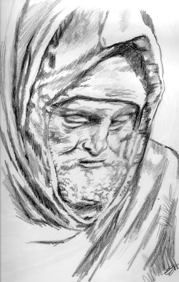 Nicodemus. Pencil sketch by Gary Perrone.
