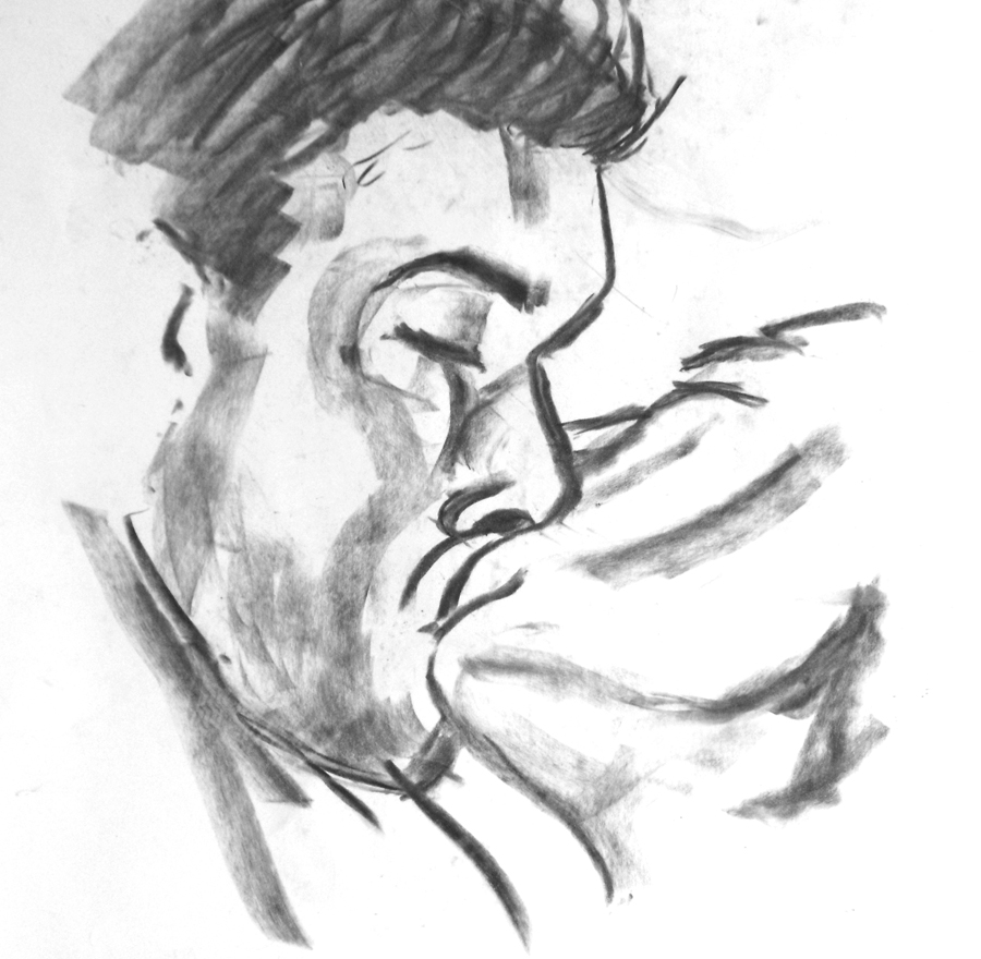 Charcoal sketch by Gary Perrone.