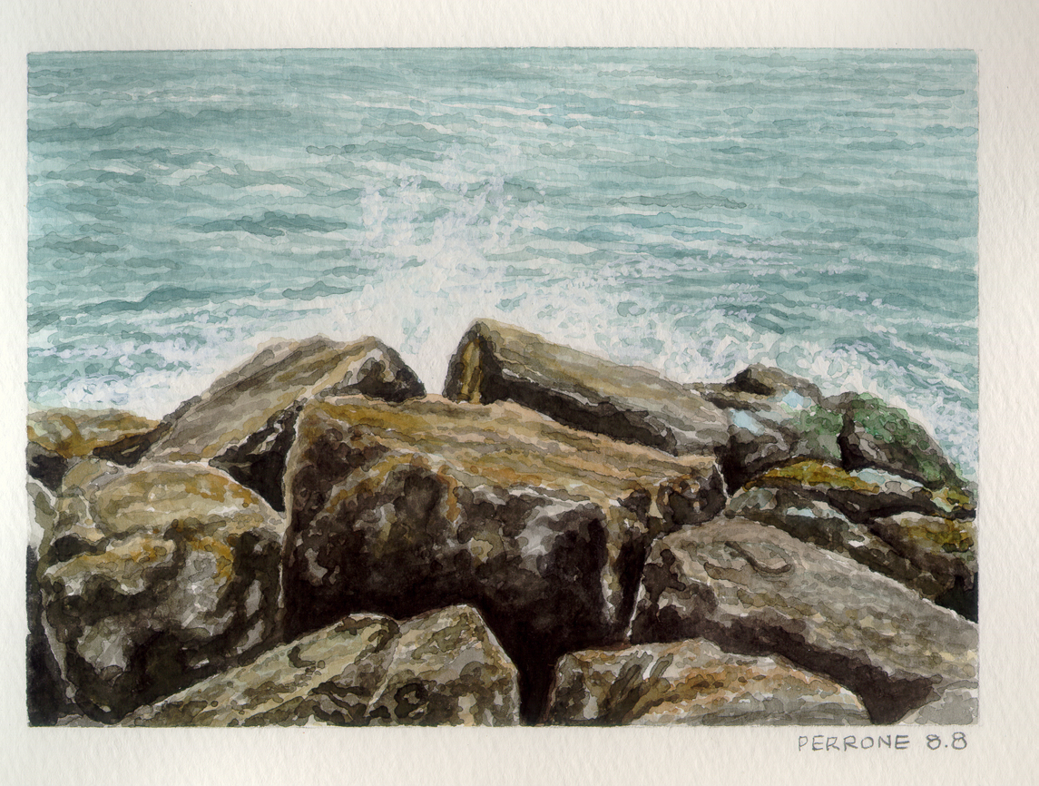 Jetty – 2008 – Watercolor.  By Gary Perrone.
