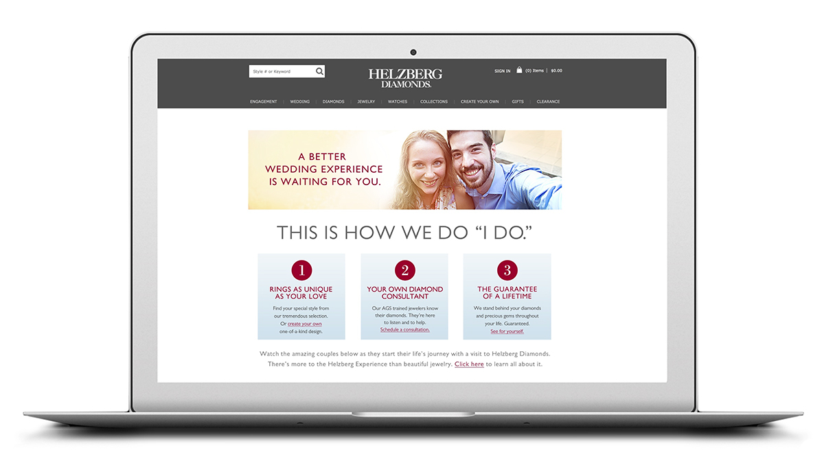 Bridal microsite – The Helzberg bridal experience.
