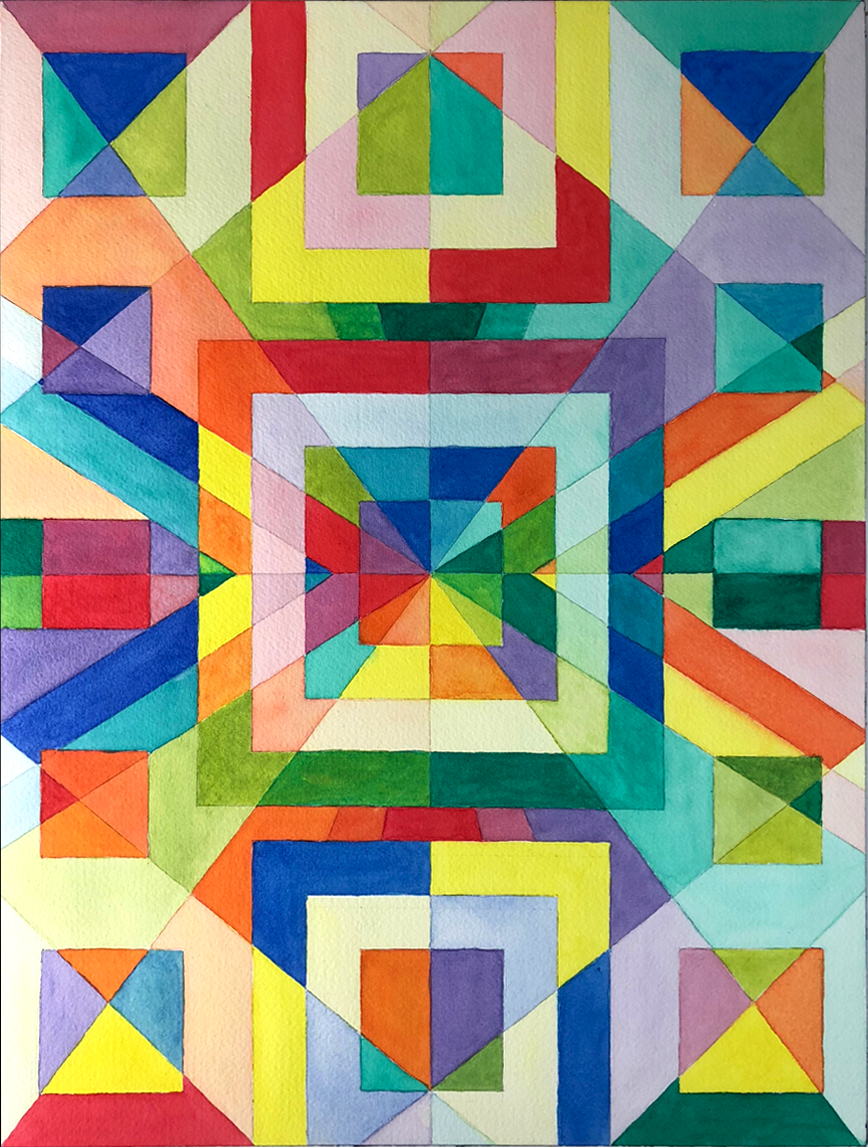 Arranged Colors by Gary Perrone. 2019 Watercolor.