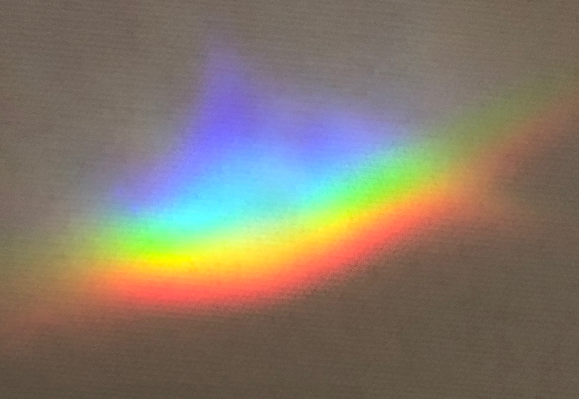 A color spectrum that appears in my studio on sunny mornings.