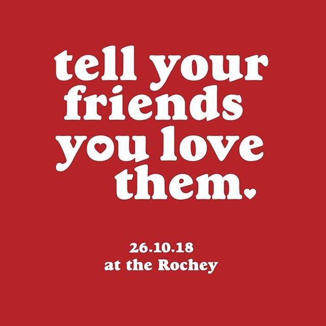This Friday night is going to be a celebration of friendship! All welcome, 6pm onwards at the Rochester. Free drinks, drink specials, keg party raffle, photobooth, DJ's, dancing, hugs & high fives! ❤️❤️❤️ Put on with love by our friends @therochey  @younghenrys  @tequilatromba