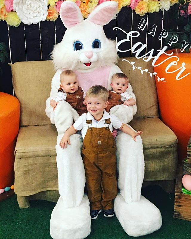 Happy Easter from our family to yours. He Is Risen. #Easter #family #3under3 #twins #mcqueenboys