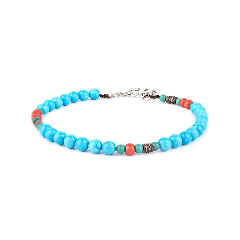 Shell Bracelet with Bird Bead