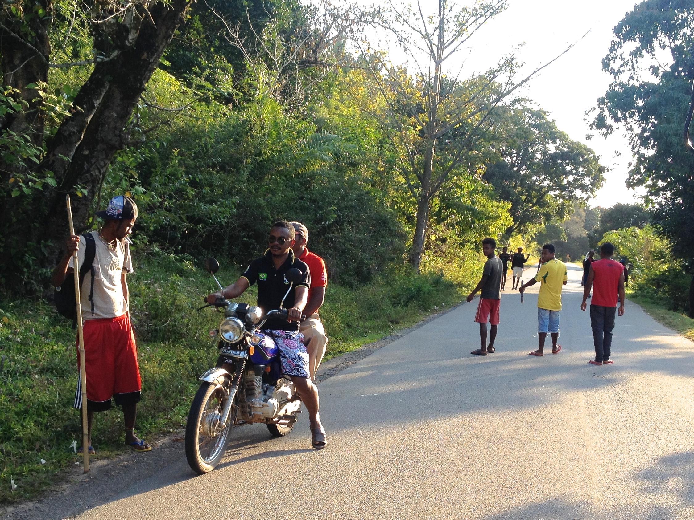 Motorbike – alternative travel around the commune.