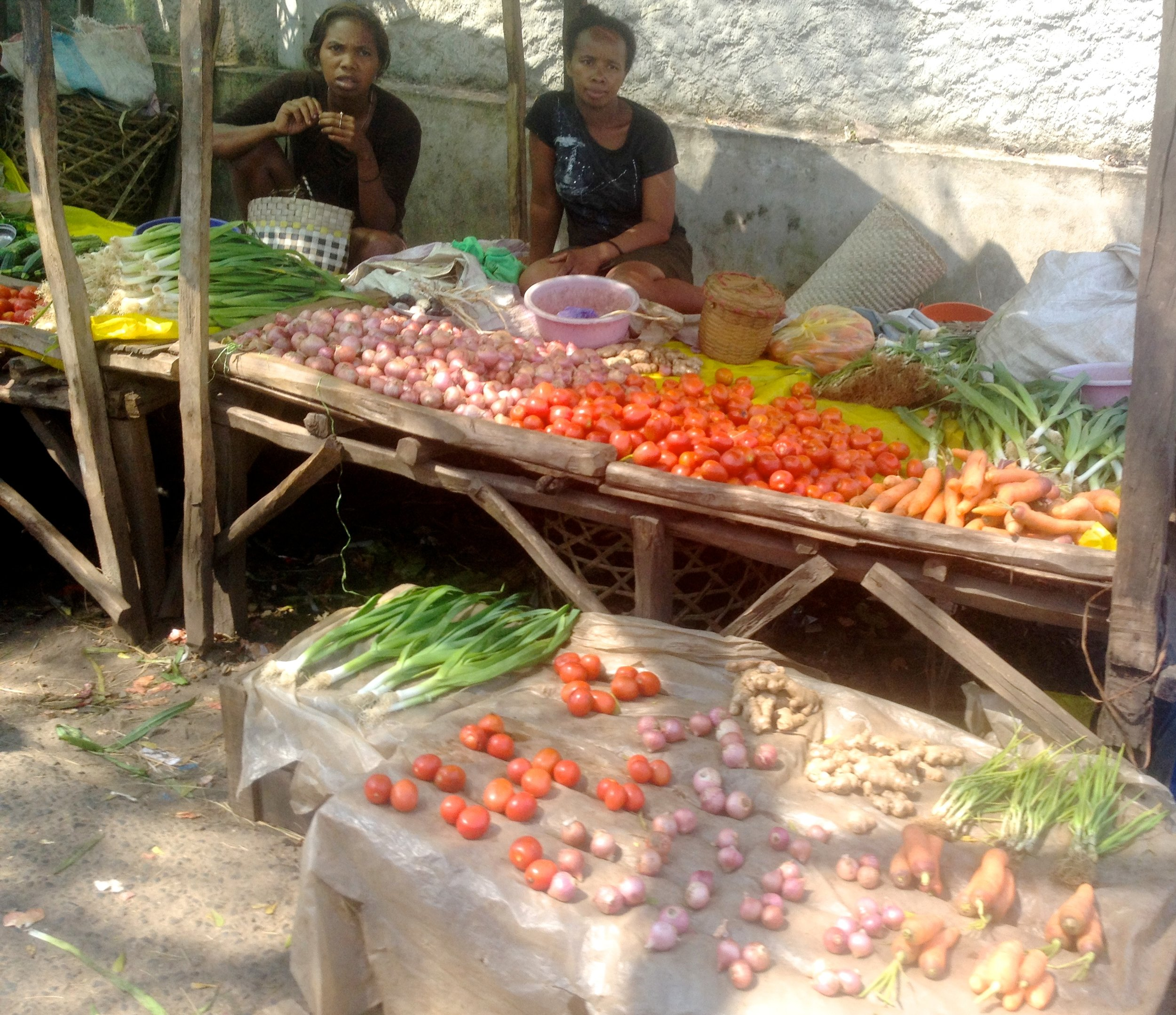 Vegetable stand in Mananjary.