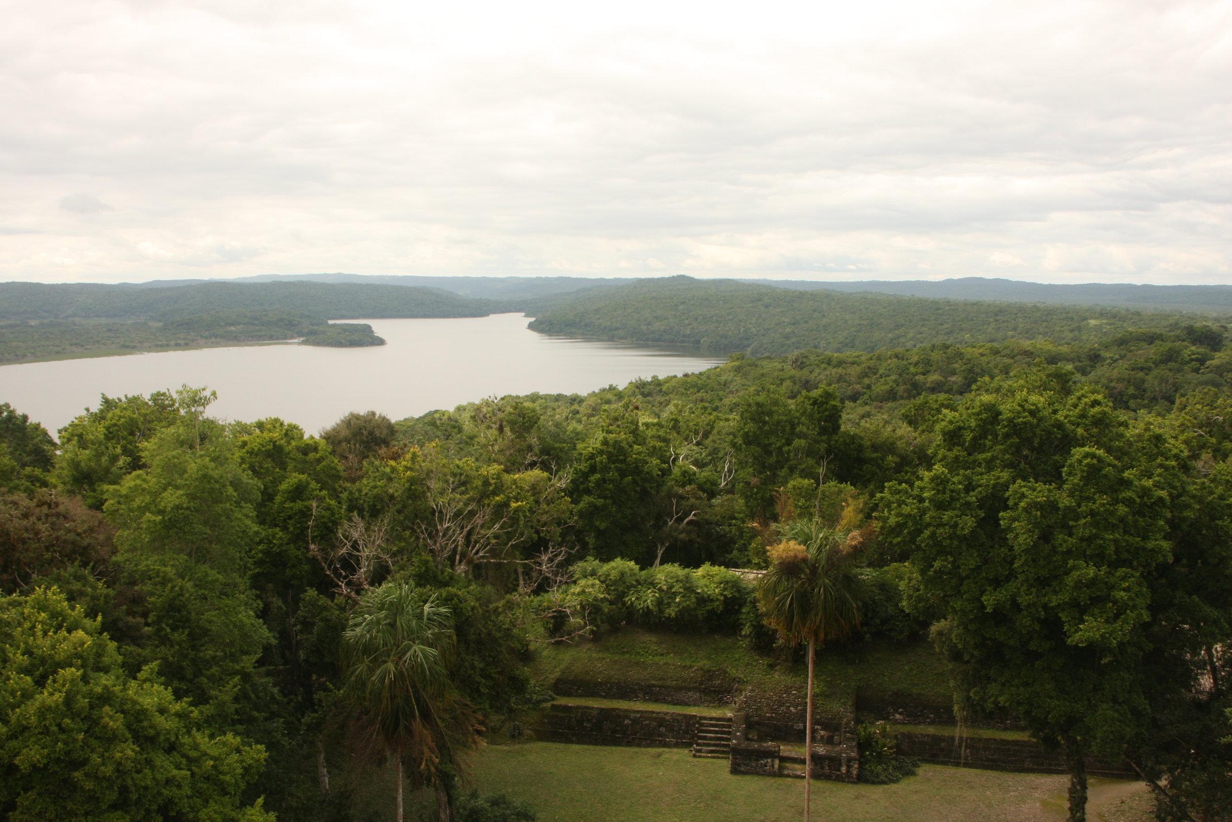 Laguna Yaxhá from Temple 216.